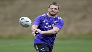 Sam Cane training with the All Blacks