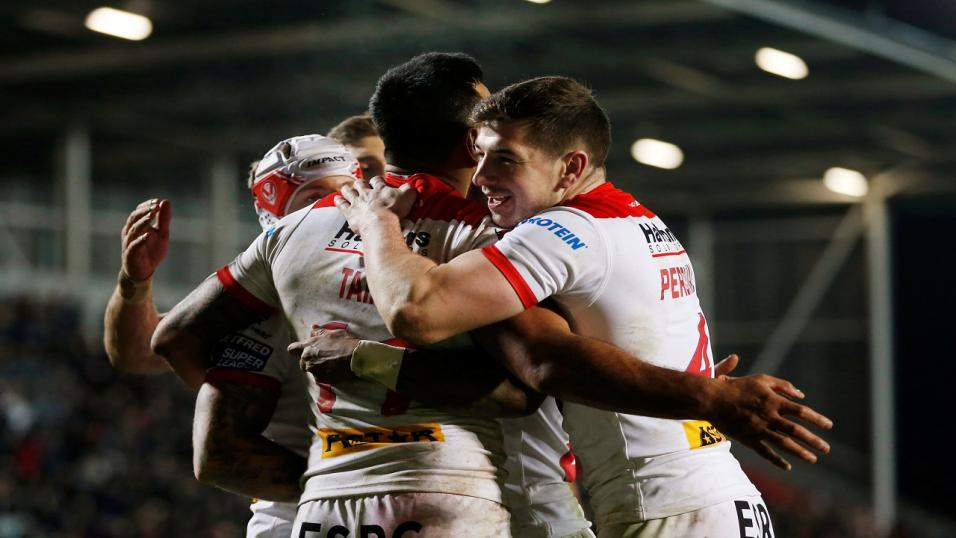St Helens celebrate another try