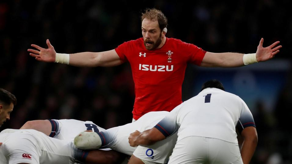 Wales captain Alun Wyn Jones had a frustrating afternoon against Maro Itoje