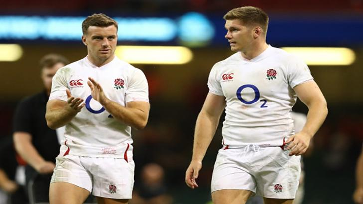 England's George Ford and Owen Farrell
