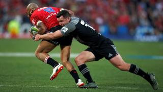 Super Rugby players from Lions and Crusaders