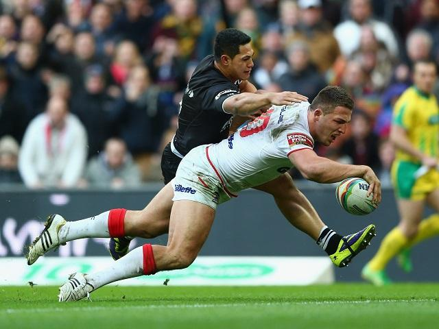 Flashback - Sam Burgess in try-scoring mood on his last England rugby league appearance