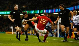 Julian Savea scored a hat-trick in the All Black's destruction of France in their quarter-final