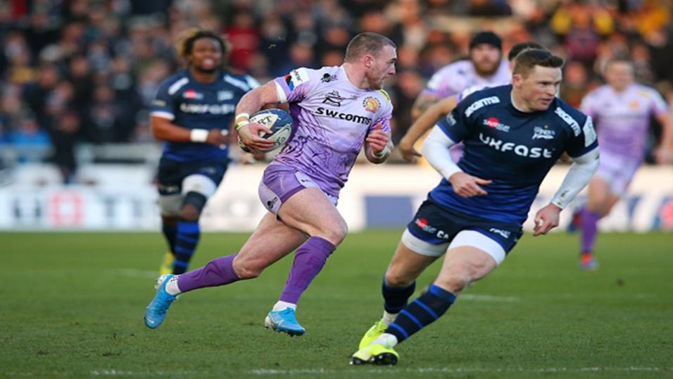 Exeter full-back Stuart Hogg