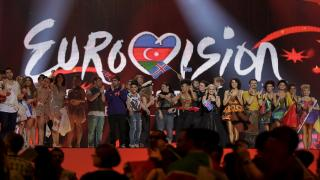 Winning Eurovision semi-finalists celebrate