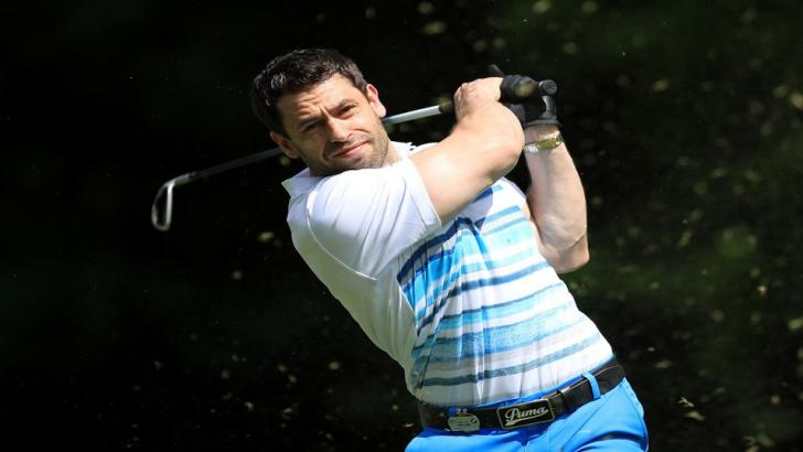 Strictly contestant Kelvin Fletcher playing golf