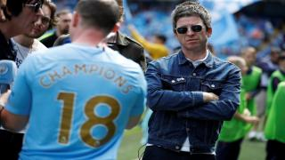 Noel Gallagher watches Manchester City win the Premier League