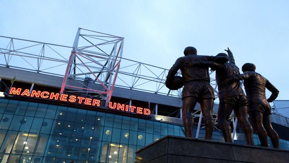 The view from outside Old Trafford