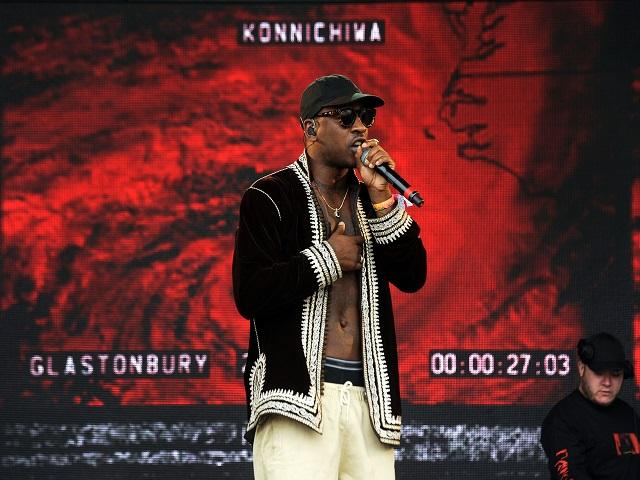 Skepta playing a triumphant set at Glastonbury. Will he be victorious on Thursday?