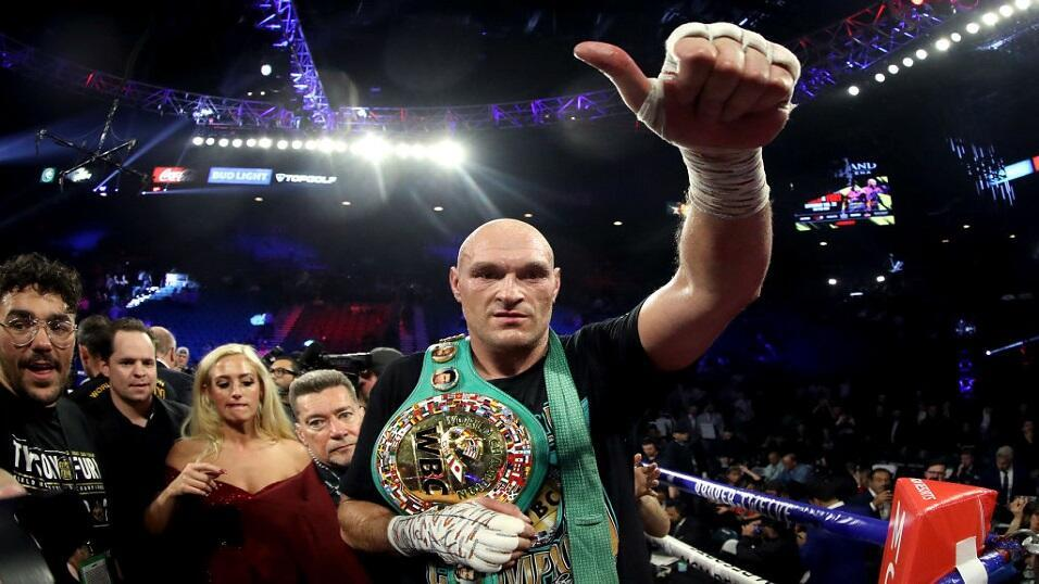 World heavyweight champion Tyson Fury