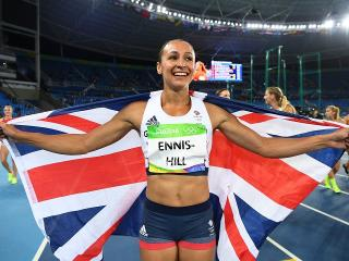 Silver star . . . Jessica Ennis-Hill flying the flag in Rio