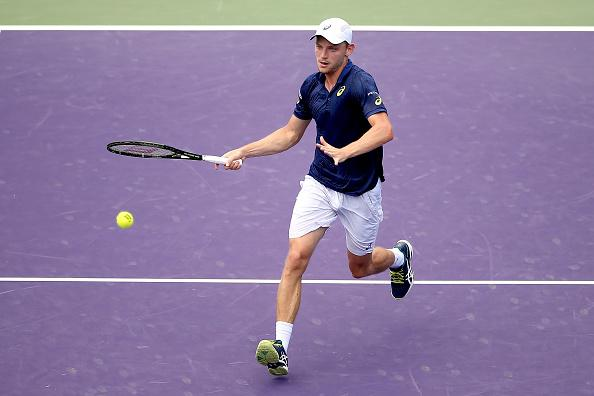 David Goffin should be able to pressurise Gilles Simon's serve