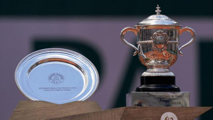 French Open 2020 women's singles trophies