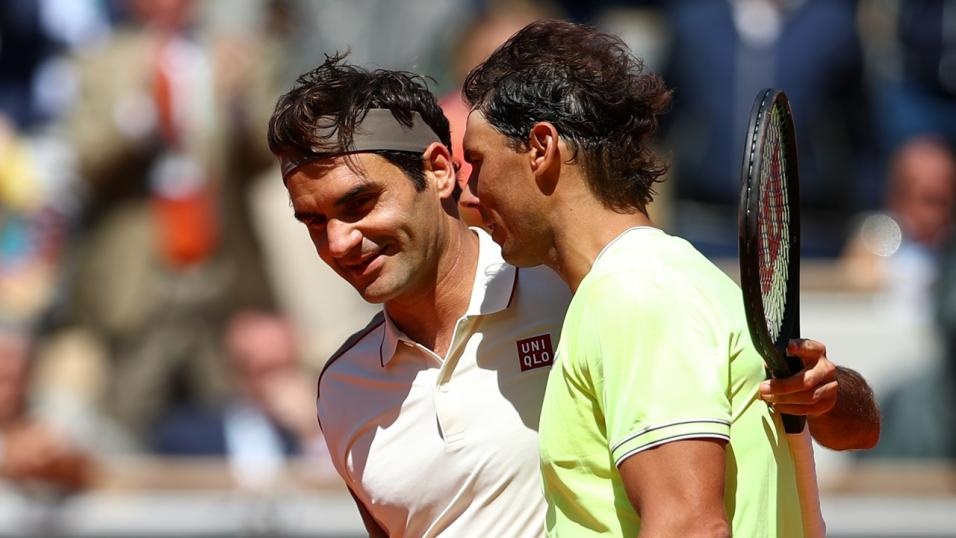 Tennis Players Rafa Nadal and Roger Federer