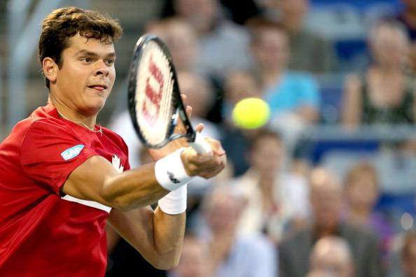 Milos Raonic is flying the flag for Canada in New York
