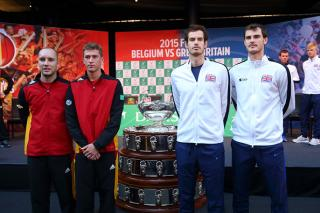 Andy and Jamie Murray look set to secure the Davis Cup trophy for Great Britain
