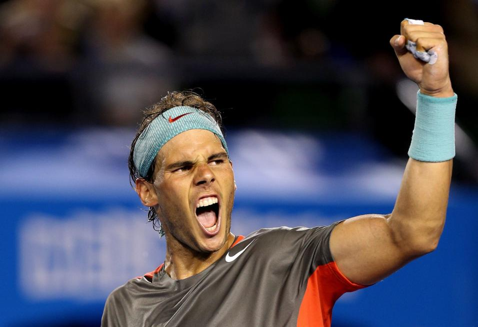 Nadal celebrates everywhere he goes and he was the happy man on Sunday in Paris