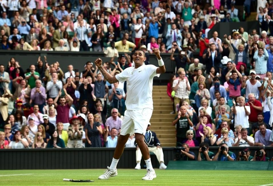 Nick Kyrgios is playing well at SW19 again