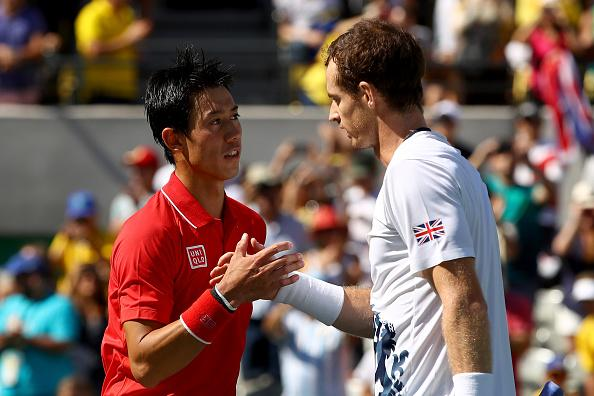 Andy Murray is likely to pressurise Kei Nishikori's serve today...