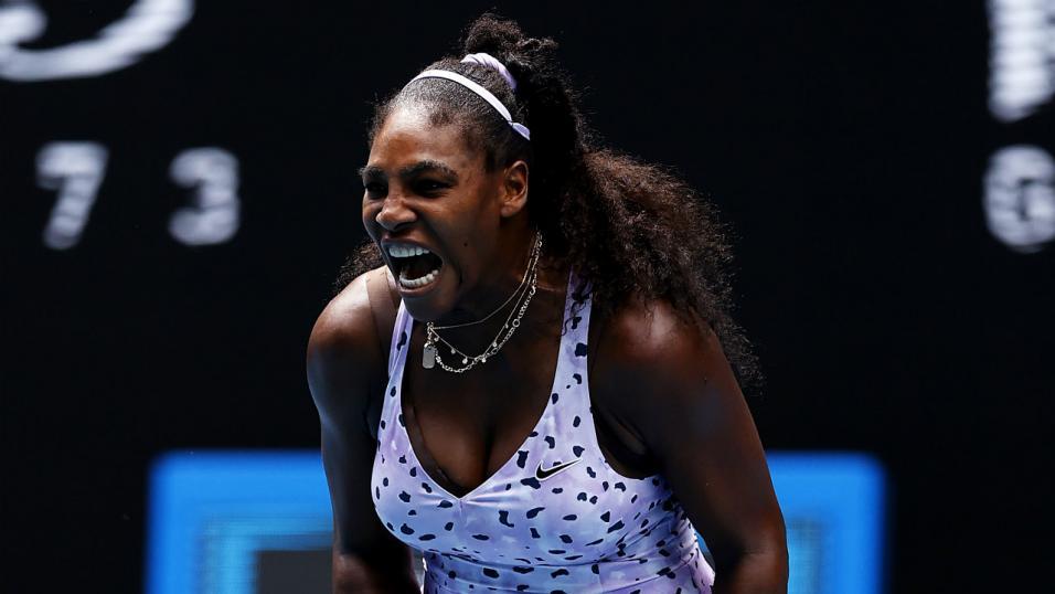 Serena Williams screams