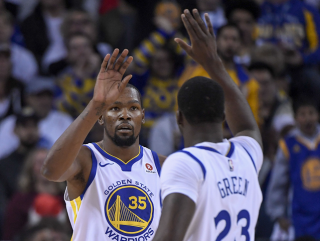 Warriors Durant and Green can battle on without leader Curry