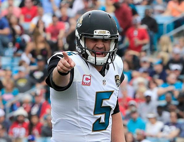 Pointing the finger: QB Blake Bortles will want to keep it simple and avoid the blame for another Jags' defeat